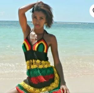 Dresses & Skirts - Handmade crochet dress Jamaican or Rasta